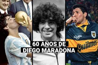 Diego Maradona cumple 60 años: Esta fue su trayectoria como futbolista