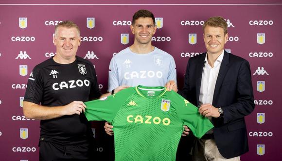 Aston Villa anunció a Emiliano Martínez como su nueva contratación. (Foto: Aston Villa)