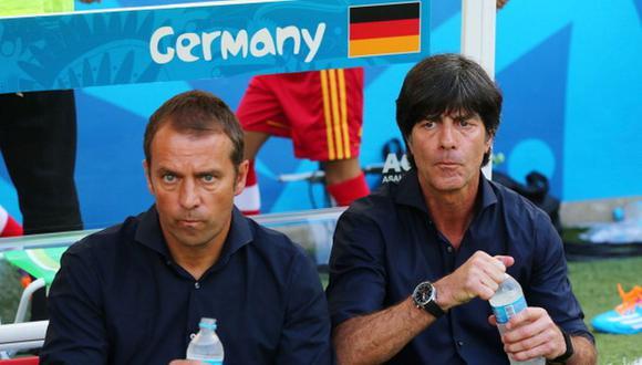 Hansi Flick fue el segundo de Löw en la selección de Alemania. (Getty)