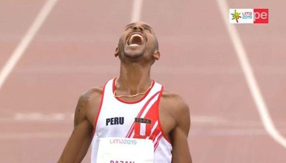 Revive la llegada de Mario Bazan en la carrera de 3000 metros con obstáculos. (Captura)