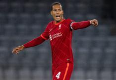 Está de regreso: Van Dijk volvió a jugar un partido con los 'Reds' después de nueve meses
