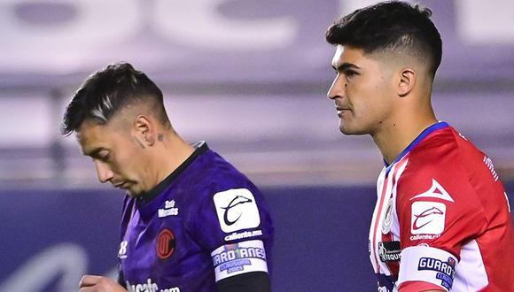 San Luis igualó sin goles ante Toluca por el Clausura 2021 de la Liga MX. (Twitter)