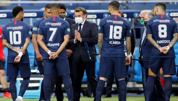 Kylian Mbappé no culminó la final de la Copa Francia por lesión. (AFP)