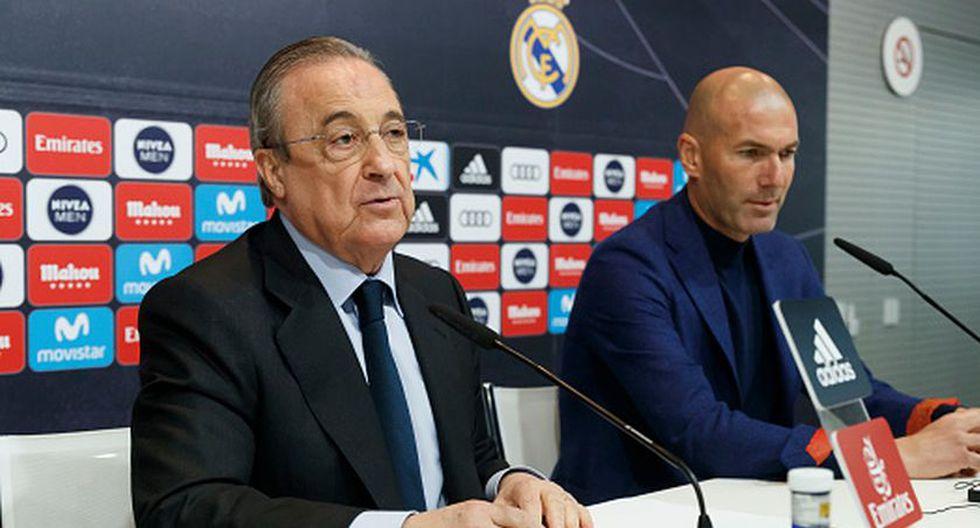 Florentino Pérez y Zidane ya habrían conversado sobre la incorporación de Raúl De Tomás. (Getty)