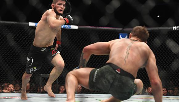 """Khabib sobre el futuro de Conor McGregor en UFC: """"Nunca va a volver a estar en la cima"""". (AFP)"""