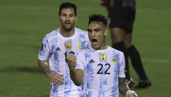 Argentina venció 3-1 a Venezuela por la fecha 9 de las Eliminatorias Qatar 2022 (Foto: AFP).