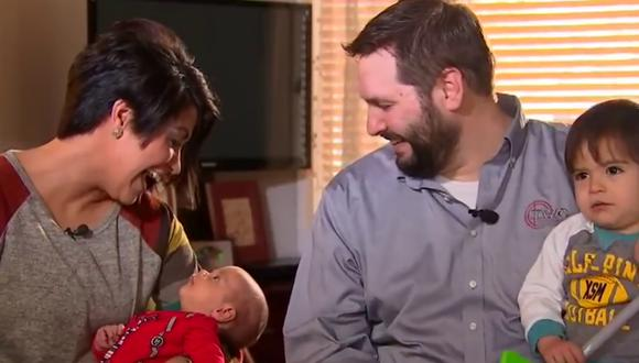 Una familia compartió el gesto desinteresado de una compañía a la que contrataron para reparar su calefacción antes de la llegada de su bebé. (Foto: Fox 9 News en YouTube)