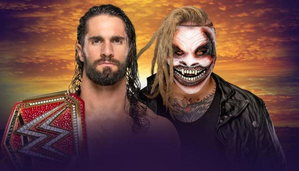 Seth Rollins (c) vs. 'The Fiend' Bray Wyatt por el título universal. Si Bray gana el cinturón, pasará a Raw. (Foto: WWE)