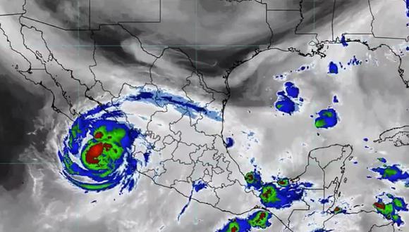 Huracán Olaf en México: trayectoria, intensidad, afectaciones y categoría 1 (TW: @conagua_clima)