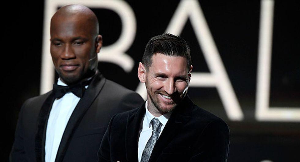 Lionel Messi fue al premio del Balón de Oro con su esposa y dos hijos. (Foto: Getty)