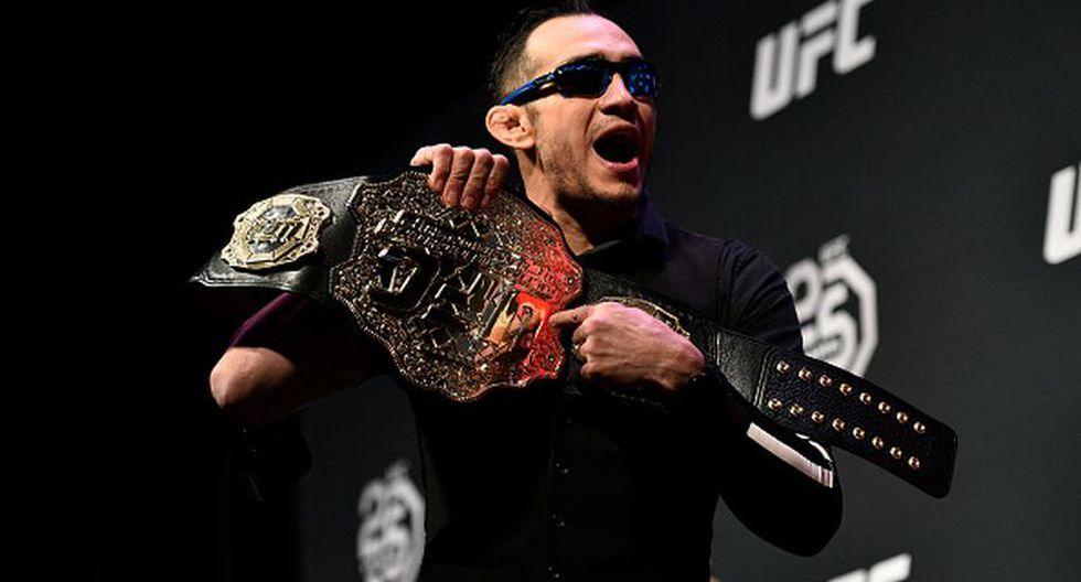 """Tony Ferguson tras la baja de Khabib Nurmagomedov del UFC 249: """"No quiere pelear, se escapó y deberían quitarle el título"""". (Getty Images)"""