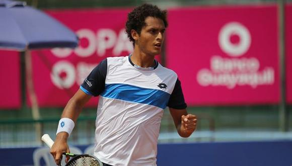 Juan Pablo Varillas perdió ante el argentino Cerundolo por los octavos de final del Challenger de Guayaquil. (Foto: TAM/Dino García)