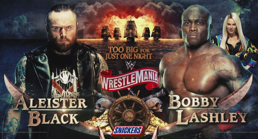 Aleister Black vs. Bobby Lashley. (Foto: WWE)