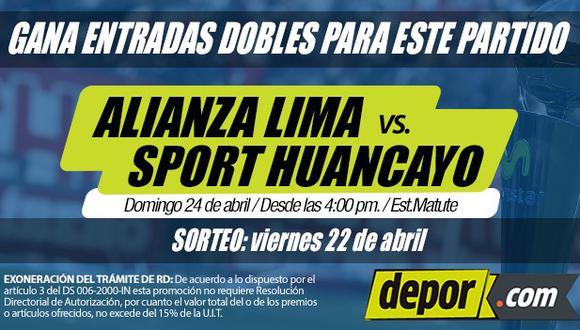 Alianza Lima vs. Sport Huancayo: Depor regala entradas dobles