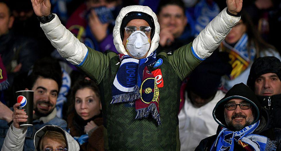 Barcelona vs. Napoli: el coronavirus en el San Paolo. (Getty)
