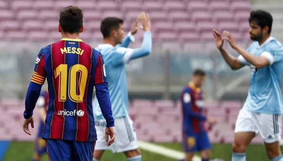 Barcelona perdió frente al Celta y se quedó sin opciones de ganar LaLiga. (Foto: AP)