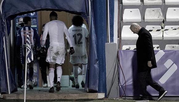 Real Madrid perdió 2-1 ante Alcoyano y quedó fuera de la Copa del Rey. (Getty)