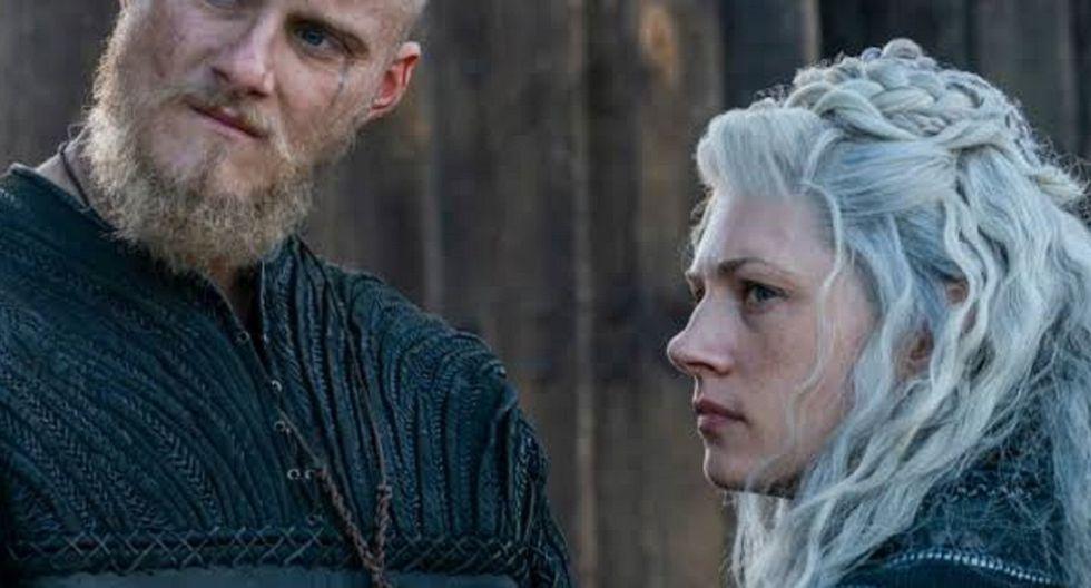 Vikings 6x06: la muerte de Lagertha a manos de Hvitserk, uno de los hijos de Ragnar en el episodio 6 de la temporada 6 (Foto: History)