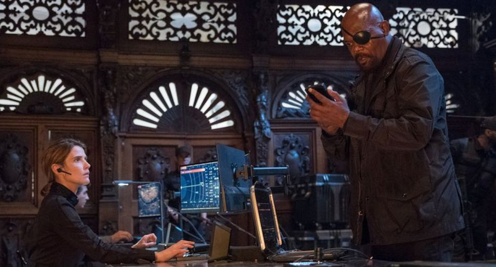 Nick Fury en Spider-Man: Far From Home (Sony)