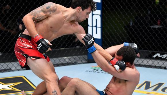 """Claudio Puelles busca estar en el ranking de UFC: """"Quiero que mis dos próximas peleas me lleven al top 15″. (Jeff Bottari/Zuffa LLC)"""