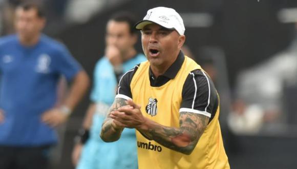 Jorge Sampaoli debutó en el Santos en empate ante Corinthians. (Santos FC)