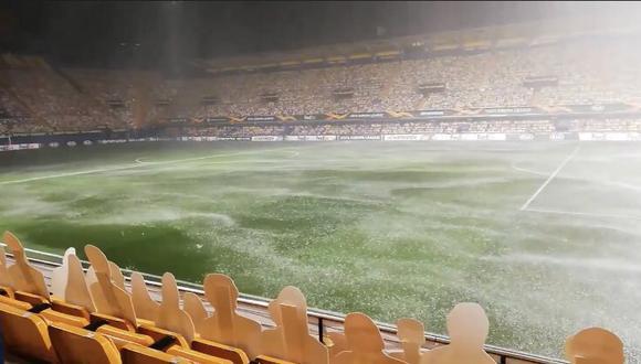 Partido de  Villarreal sufre retraso por lluvia (Foto: VillarrealCF)
