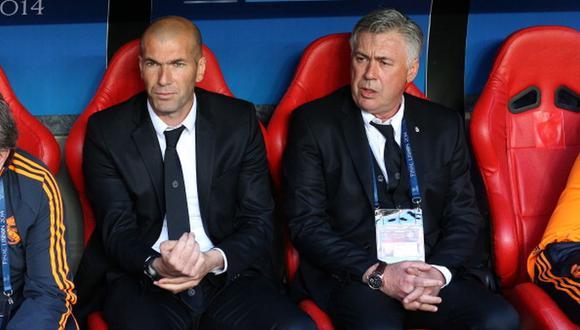 Carlo Ancelotti habló de Zinedine Zidane en su presentación. (Foto: Getty Images)