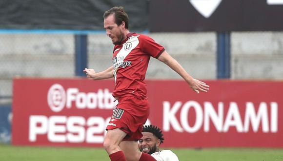 Hernán Novick marcó el tanto de la victoria de Universitario frente a UTC. (Foto: Universitario de Deportes).