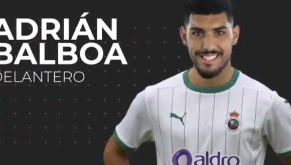Adrián Balboa se convirtió en nuevo delantero del Racing de Santander de España. (Twitter)