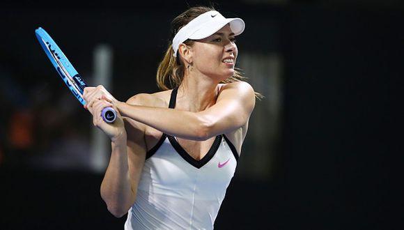 Sharapova jugando en el Torneo de Brisbane de inicios de este año. (Foto: Getty Images)