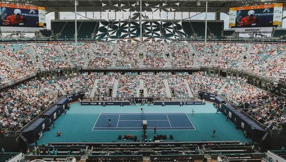 El estadio en donde se disputa el Miami Open desde 2019, ubicado en el Hard Rock Stadium. (Foto: Miami Open)