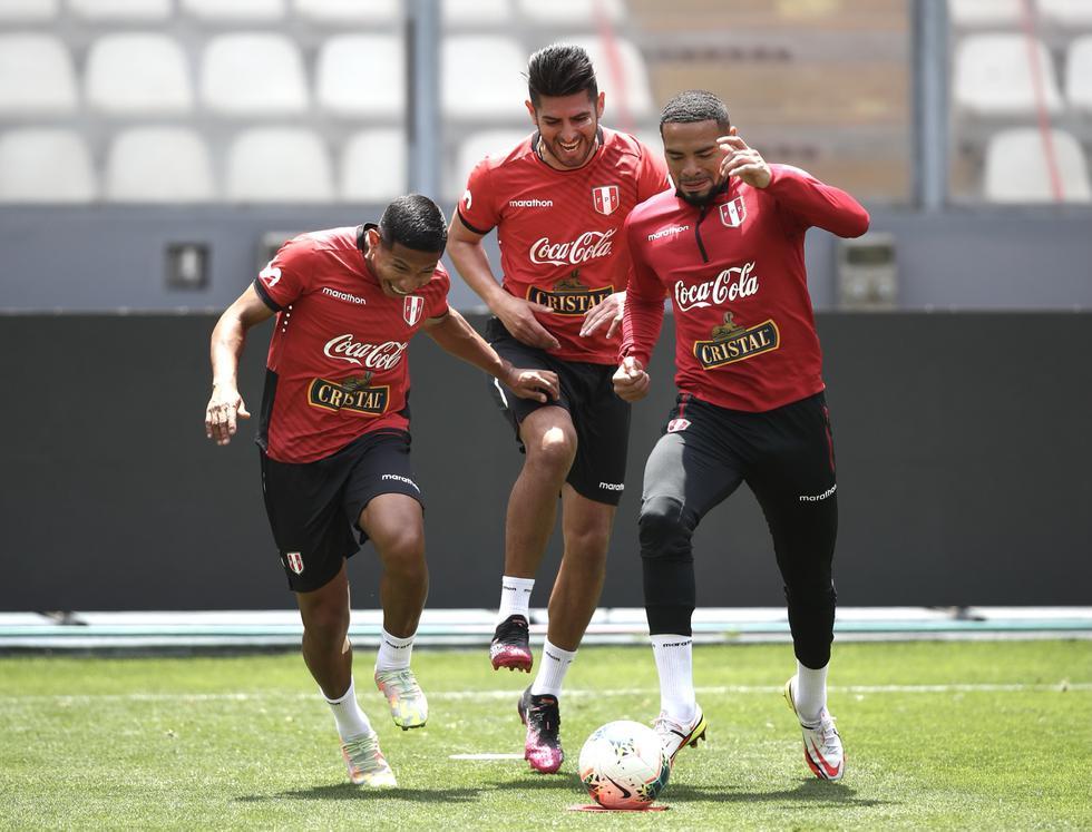 Así fue el entrenamiento de Perú de este miércoles. (Foto: FPF)
