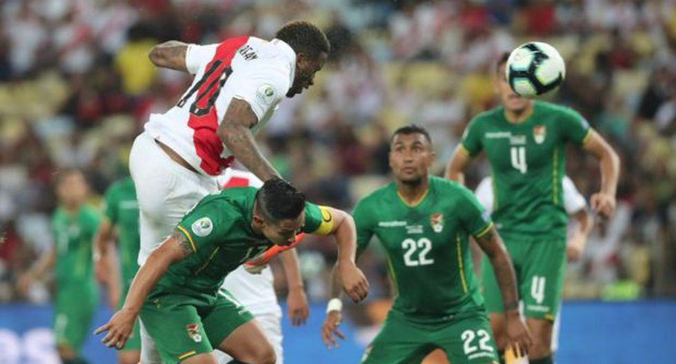 Jefferson Farfán anotó el 2-1 de Perú frente a Bolivia por el grupo A de la Copa América, duelo que concluyó 3-1 a favor de la selección peruana. (Foto: @SeleccionPeru)