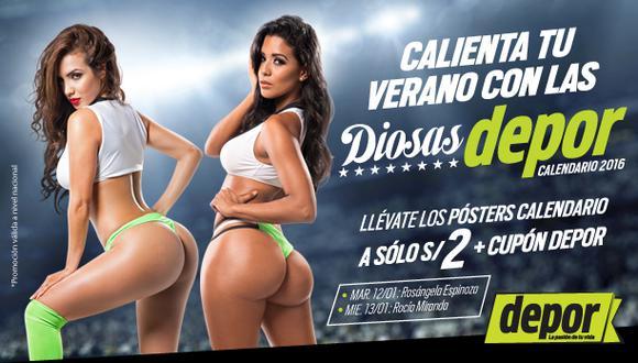 Hoy sale la segunda entrega del calendario con la Super Diosa Depor Rocío Miranda.