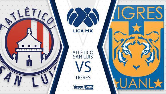 Tigres vs. Atlético San Luis juegan por la fecha 8 de la Liga MX 2021 este jueves (Foto: Depor)