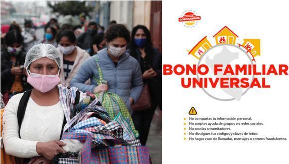 Bono Familiar Universal de S/760: plataforma y mira si eres beneficiario del subsidio aquí. (Foto: Difusión)