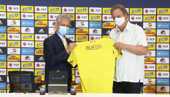 Reinaldo Rueda fue presentado como entrenador de Colombia. (Foto: FCF)