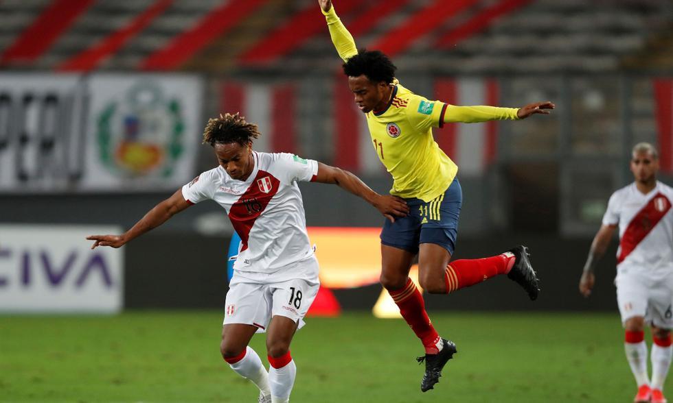 Alineaciones del Perú vs. Colombia (Foto: EFE)