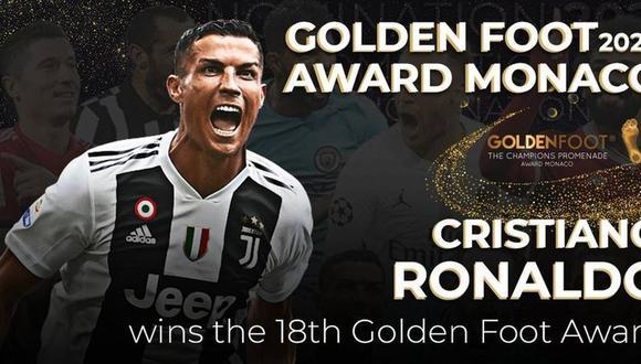 Cristiano Ronaldo ganó el Golden Foot 2020.