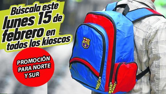 ¡Atención Norte y Sur! Depor te regala la mochila del FBC Barcelona.