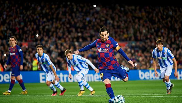 Lionel Messi lleva 19 goles en la presente Liga Santander. (Getty)