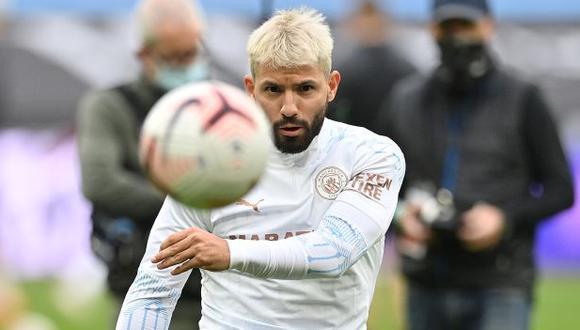 Sergio Agüero es el goleador histórico de Manchester City, con 255 anotaciones. (Foto: AFP)