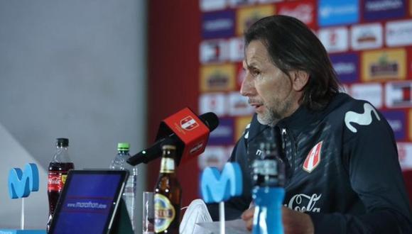 Ricardo Gareca brindó una conferencia de prensa donde anunció la lista de convocados de la Selección Peruana (@SelecciónPeu)