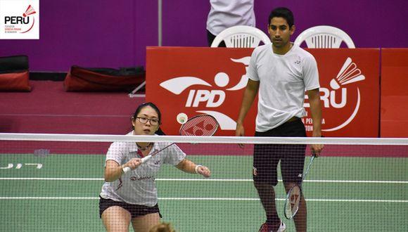 Danica Nishimura y Diego Mini son dos de los mejores jugadores de bádminton que actualmente tiene el Perú. (Foto: Bádminton Perú)