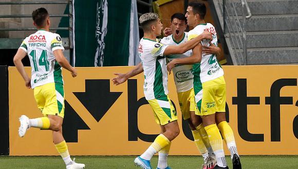 Defensa y Justicia vs. Palmeiras se vieron las caras este martes por la Copa Libertadores 2021 (Foto: Getty Images)