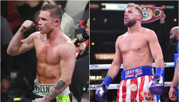 Saúl 'Canelo' Álvarez vs. Billy Joe Saunders pelean en el AT&T de Arlington, Texas (Foto: Getty Images)