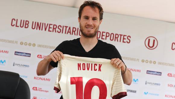 Hernán Novick fue presentando en Universitario de Deportes (Foto: Prensa 'U')