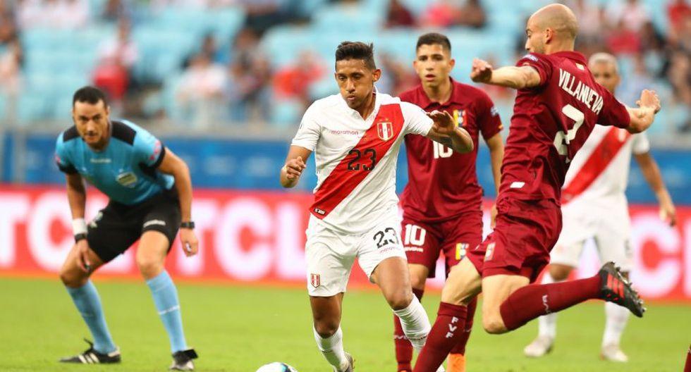 Gol de Christofer Gonzáles fue anulado en el debut de la Selección Peruana. (Foto: Francisco Neyra)