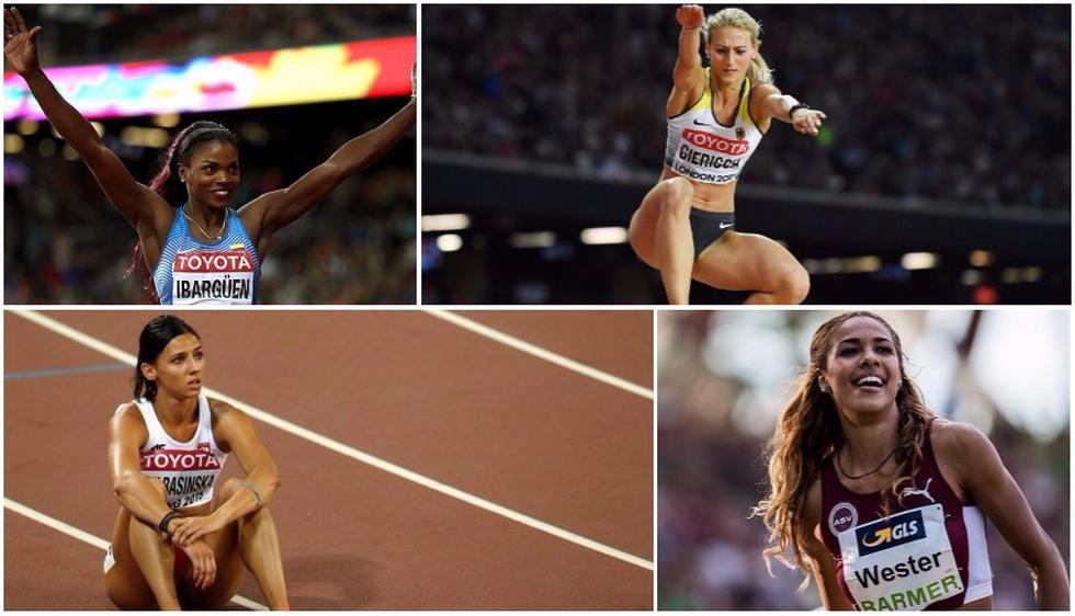 Las competidoras más hermosas del Mundial de Atletismo. (Getty Images/AFP)