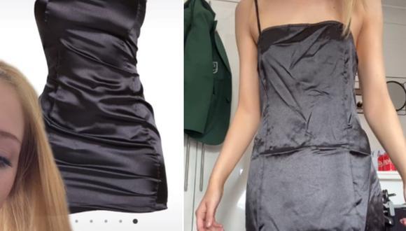 Una mujer decidió comprarse un vestido online y se decepcionó al recibirlo. (Foto: @mckenziesanderson / TikTok)
